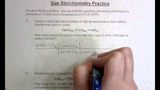 Gas Stoichiometry Practice