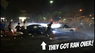 CAMARO CRASHES INTO THE CROWD!! Must Watch*