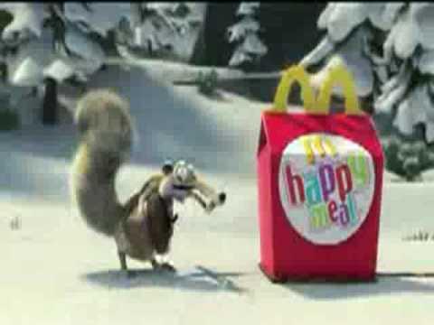 mcdonalds restaurant ice age commercial 2009