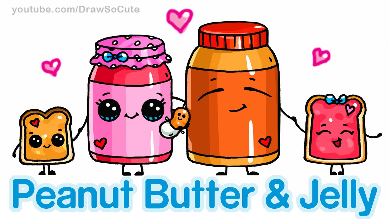 how to draw cute cartoon food peanut butter and jelly sandwich draw cute cartoon food peanut butter