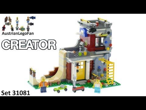 Vidéo LEGO Creator 31081 : Le skate park