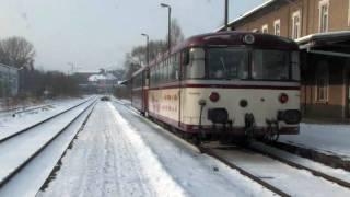 preview picture of video 'Ürdinger im Schnee (1) / Uerdinger ve sněhu (1) - Mandaubahn (2009, HD)'