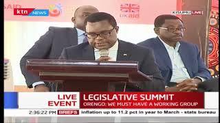 Senate House speaker Ken Lusaka officially opens Legislative summit in Kisumu | Full Speech