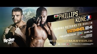 Cheick Kone vs John Phillips - BAMMA 24 (Middleweight Title)