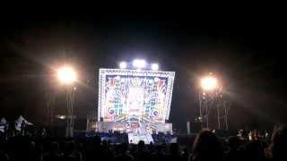 2013.10.2 統一17噸超大型舞台in2013哈雷騎士烏托邦。旗津沙灘煙火台式餐廳秀。小謝金燕((姐姐))。特效壓軸。