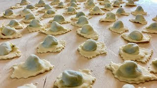 Discover Pot-Bellied Ravioli called Pansoti from Liguria | Pasta Grannies
