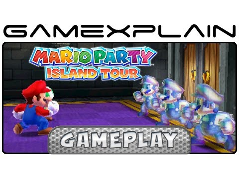 Mario Party: Island Tour -  Bowser's Tower & Claiming the Cube Minigame Gameplay (3DS)
