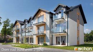 Projekt domu nad bulwarem 3 (BN)