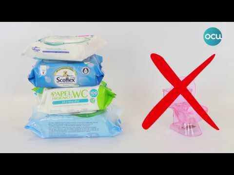 Las toallitas húmedas no son papel higiénico