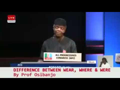 PROF OSINBANJO @ OMO IBADAN COACHING CENTRE. WEAR, WHERE,  WERE BY