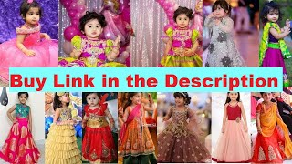 1 To 3 Years Old Baby Girls Dresses | Frocks/Lahenga/kurti And Party Wear Dresses For Baby Girls