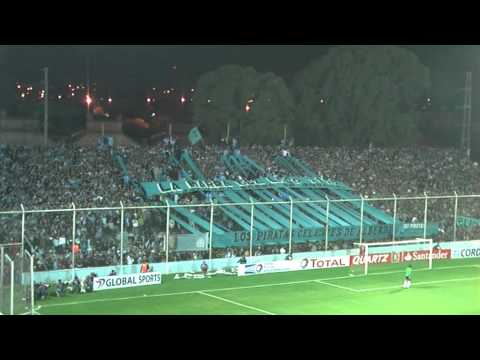 """""""Hinchada Belgrano Velez CopaSudamericana 2013"""" Barra: Los Piratas Celestes de Alberdi • Club: Belgrano"""
