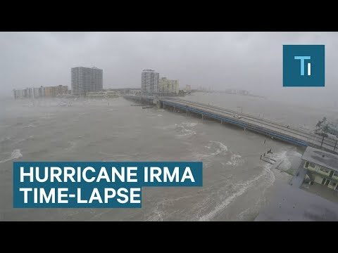 This time-lapse shows Hurricane Irma slamming Miami Beach