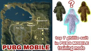 Pubg mobile top 7 ghillie suit locations in pubg mobile training mode with proof part 2