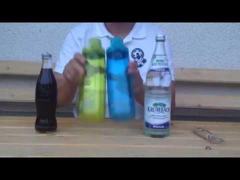 Nalgene OTF Trinkflasche Test 100% dicht auch bei kohlesäurehaltigen Getränken