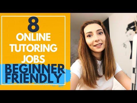 8 Online tutoring jobs to work from home in 2021 (BEGINNER FRIENDLY)
