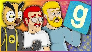 Gmod Scary Map & Prop Hunt Funny Moments: The Paranormal Gmod Squad & Roomba Rampage!