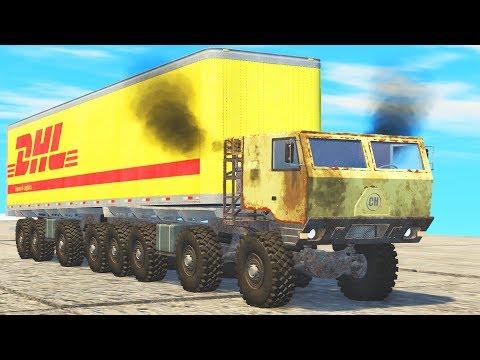 BIG RIG 8x8 Truck Crash Testing - BeamNG Drive   CrashTherapy