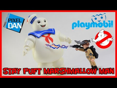 Playmobil Ghostbusters Stay Puft Marshmallow Man and Ray Stantz Figures Video Review