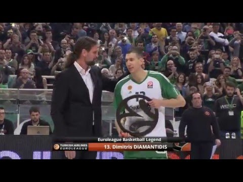 Dimitris Diamantidis becomes Euroleague Basketball Legend