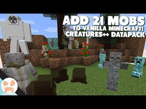 21 NEW MOBS! | Creatures++ 1.13 Minecraft Datapack Showcase