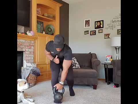 Kettlebell Rotational Clean to Twist Press