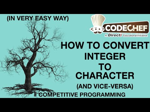 Convert integer into character and vice versa || Competitive Programming || #DATA TYPE CONVERSION