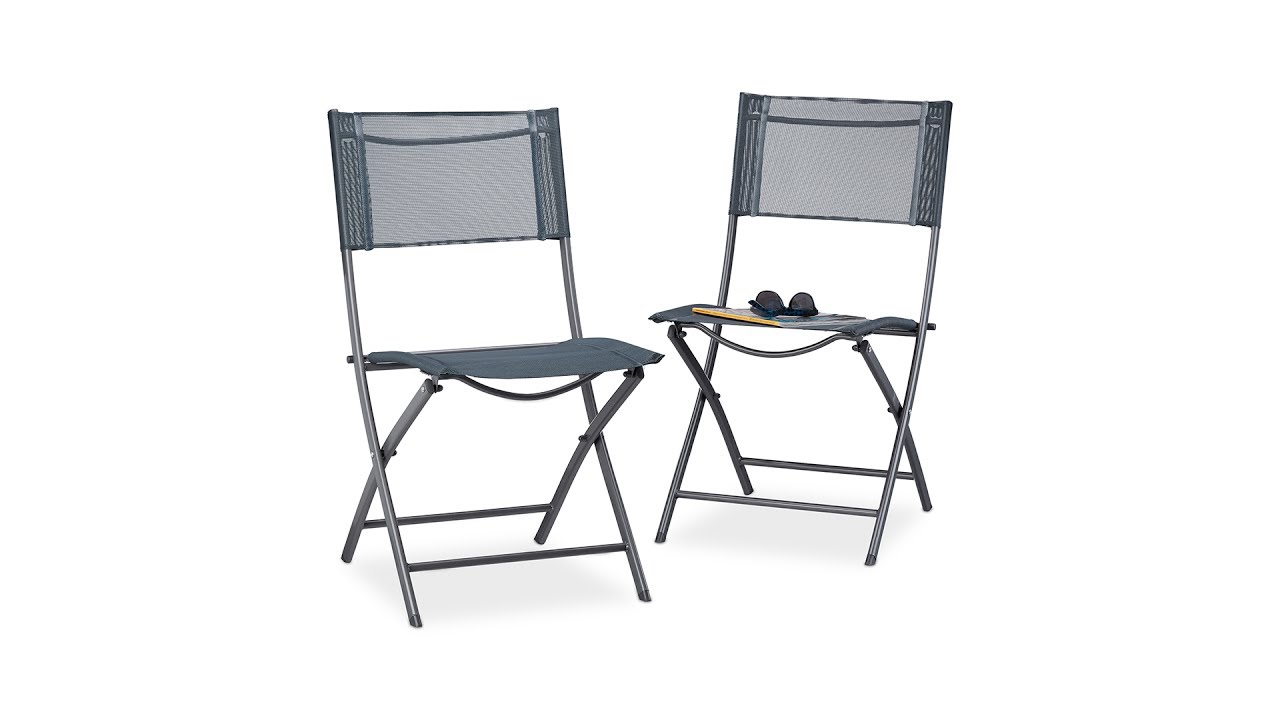 klappstuhl balkon 2er set f r garten camping kaufen. Black Bedroom Furniture Sets. Home Design Ideas