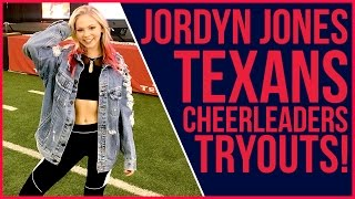 Check out Jordyn Jones' fun day with the Houston Texans Cheerleaders at HTCTryouts2017