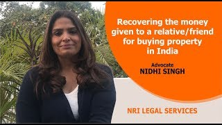 How to recover the money given to a friend or relative | Expert Legal Tip