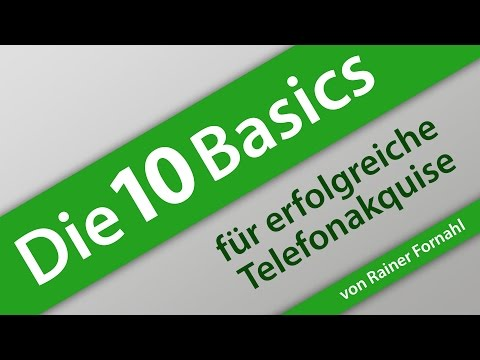 Die 10 Basics in der Telefonakquise von Rainer Fornahl - Ratgeber Vertrieb