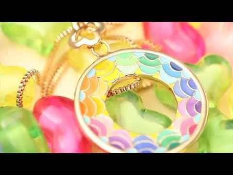"""Ninabox® """"DUBAI AUGE"""" SWAROVSKI Elements Kristalle mit einer Roségold Riesenrad Halskette"""