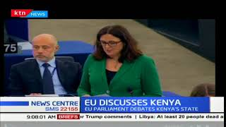 The EU parliament debates Kenya's political state