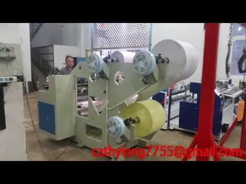 La maquina de corte de tres capas de papel termosensible