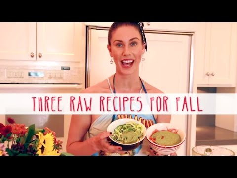 , title : '3 Raw Recipes For Fall! What I Eat - Cooking With Cassandra (& Cats!) Using Aloha Daily Good!