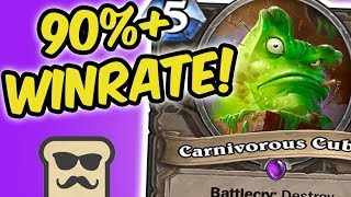 90% WINRATE OP DECK TO LEGEND! | CUBELOCK | KOBOLDS AND CATACOMBS | HEARTHSTONE