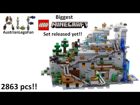 Vidéo LEGO Minecraft 21137 : La mine