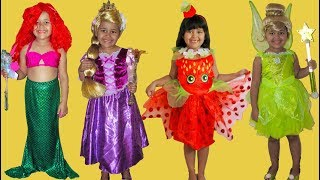 45 Halloween Costumes Disney Princess Kids Costume Runway Show Snow White Tiana Ariel