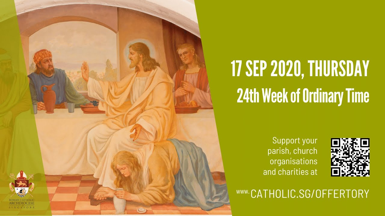 Catholic Mass Today 17th September 2020, Catholic Mass Today 17th September 2020 Online 24th Week of Ordinary Time 2020