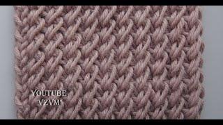 "Плотный узор спицами ""Рисовое поле"" Урок 61   A dense pattern spokes"
