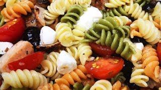 Pasta Salad, Potluck Pasta Salad, Cooking with Rose, Chicken pasta salad