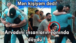 Arvadını insanların yanında döydü!  #sosial #turk