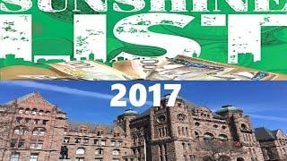 2017 Ontario Public Sector Sunshine List
