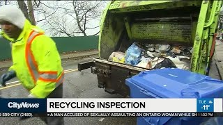 City inspecting blue bins for contamination