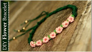 Handmade Flower Bracelet Ideas | How To Make Macrame Bracelets At Home | DIY Jewelry |Creation&you