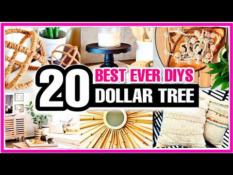 20 HIGH END Dollar Tree DIY Room Decor Ideas to try in 2021!
