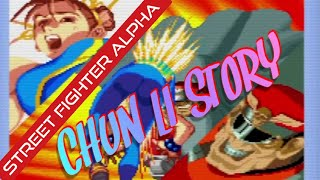 Street Fighter Alpha 1: Chun-Li story (Full play through with ending)