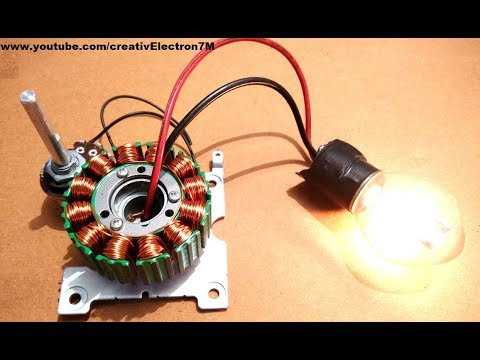 Make a Free Energy Generator from a Dead BLDC Motor DIY