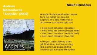 """Video thumbnail of """"Andrius Mamontovas - Nieko Panašaus"""""""