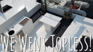 Onboard Lifestyle ep.26 Removing the Hardtop on our Catamaran